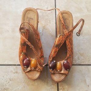 Sam Edelman python wedge sandal 9
